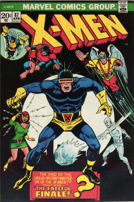 Uncanny X-Men #87. One of the reprint series which ran until #94 relaunched the series. Click for values