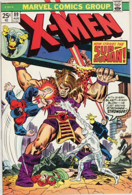 Uncanny X-Men #89. One of the reprint series which ran until #94 relaunched the series. Click for values