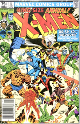 Uncanny X-Men Annual #5. Click for values