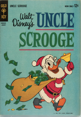 Uncle Scrooge #40 (1963): Published by Dell #1-39, Gold Key. Click for values