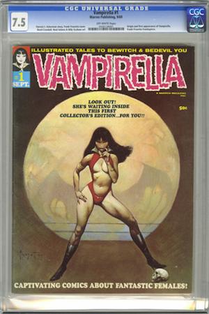 Hot Comics #80: Vampirella 1. Look for CGC 7.5. Click to order a copy