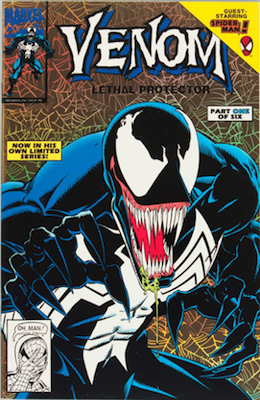 Venom Lethal Protector #1 Gold Edition. Gold background. Click for values