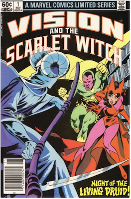 Vision and the Scarlet Witch Limited Series #1 (1982). Click for values.