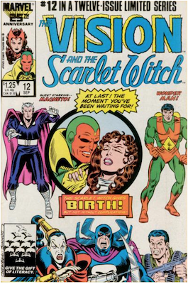 Vision and the Scarlet Witch #12. Click for values.