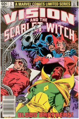 Vision and the Scarlet Witch Limited Series #3 (1982). Click for values.