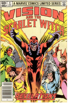 Vision and the Scarlet Witch Limited Series #4 (1982). Click for values.