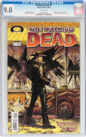 Walking Dead #1 CGC 9.0. Most recent sale: $1,137