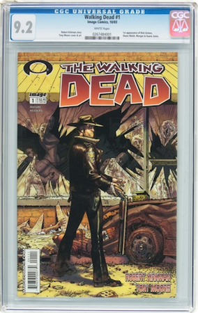 Walking Dead #1 CGC 9.2. Most recent sale: $1,230