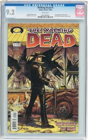 Walking Dead #1 CGC 9.2. Most recent sale: $1,230