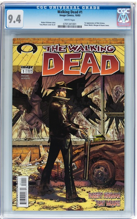 Walking Dead #1 CGC 9.4. Most recent sale: $1,299