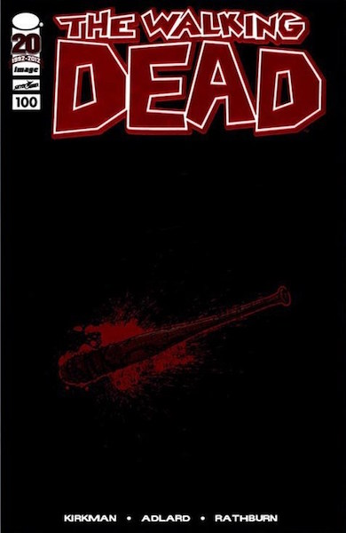 #10: Walking Dead 100 Red Foil/Lucille, Adlard (2012). Click for values