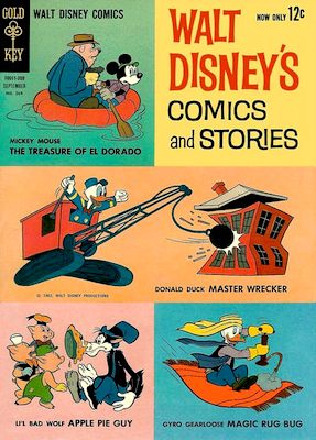 Walt Disney's Comics and Stories #264 (Gold Key Comics, 1962): Previous issues published by Dell. Click for values