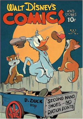 Walt Disney's Comics and Stories #44. Click for values.