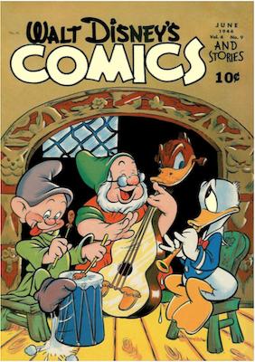 Walt Disney's Comics and Stories #45. Click for values.