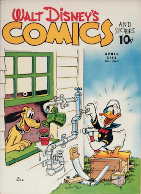 Walt Disney Characers in Uncle Scrooge Comics