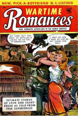 Wartime Romances #16: Matt Baker cover. Click for values