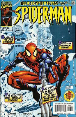 Webspinners: Tales of Spider-Man #13. Click for values