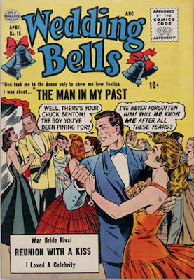 Wedding Bells #16, Matt Baker comic. Click for values