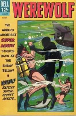 Werewolf #2 (1967), Dell Comics. Click for values