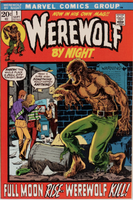 Werewolf by Night #1, 1st in Series, Story Continues from Marvel Spotlight #4. Click for values