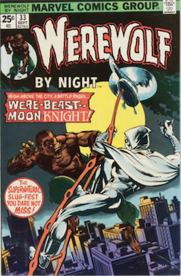 Werewolf by Night #33, 2nd Moon Knight. Click for values