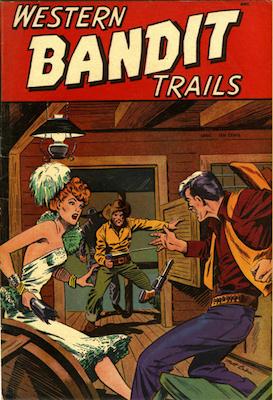Western Bandit Trails #2, Matt Baker cover art. Click for values