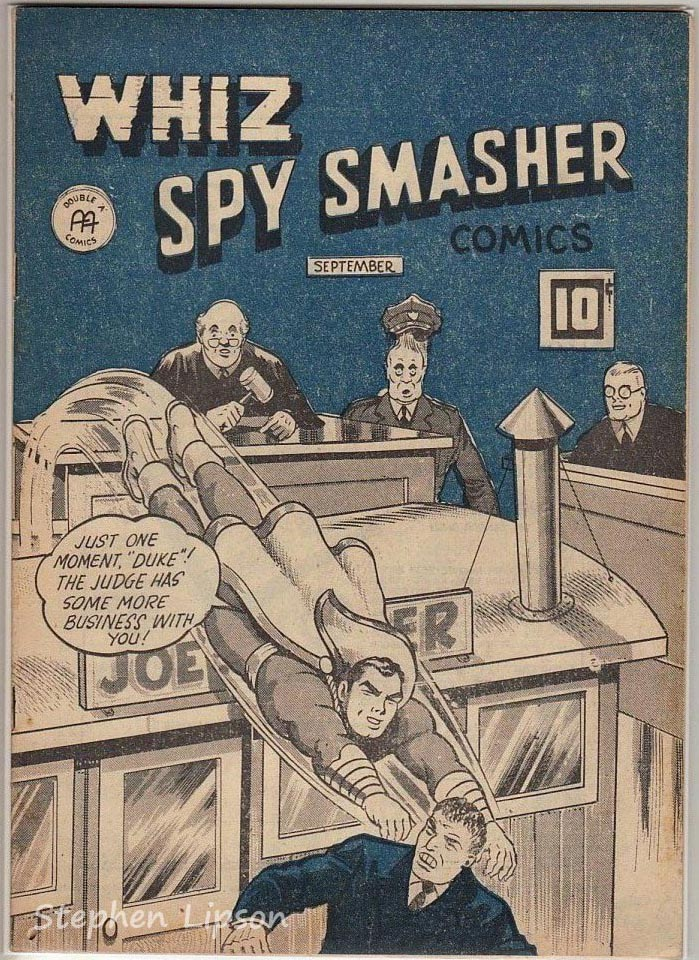 Whiz Spy Smasher comics v4 #8