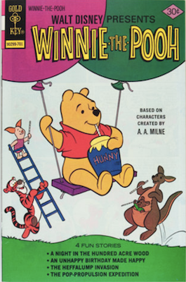 Winnie the Pooh #1 (1977), Gold Key. Click for values