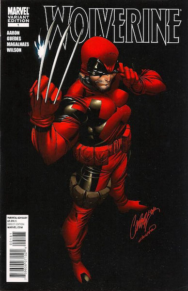 The Wolverine 2010 #1 Deadpool variant by J. Scott Campbell. Click for value