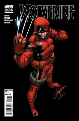 Wolverine #1 (2010): J. Scott Campbell Deadpool Variant Cover. Click for values