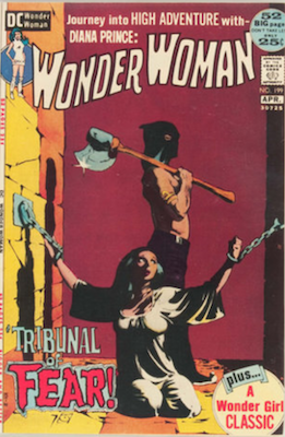 Wonder Woman #199, Jeff Jones Bondage Cover. Click for values