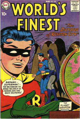 World's Finest Comics #100. Click for values.
