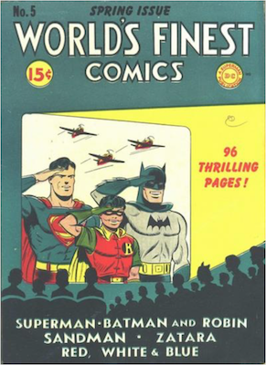 World's Finest Comics #5. Click for values.