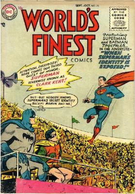 World's Finest Comics #78. Click for values.