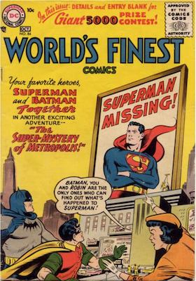 World's Finest Comics #84. Click for values.
