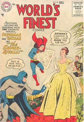 World's Finest Comics #85. Click for values.