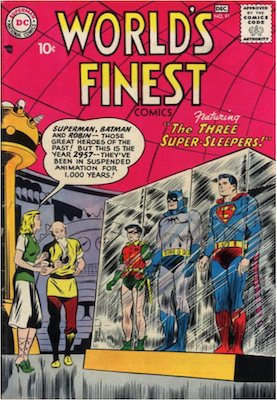 World's Finest Comics #91. Click for values.