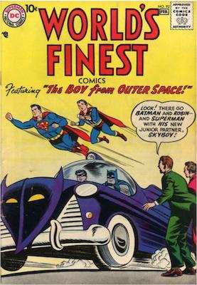 World's Finest Comics #92. Click for values.