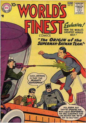 World's Finest Comics #94. Click for values.