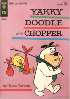 Yakky Doodle and Chopper #1 (1962), Gold Key. Click for values