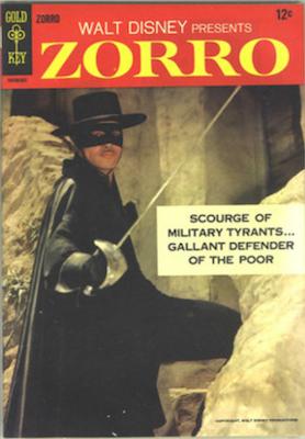 Zorro #1 (1966), Gold Key Comics. Click for values