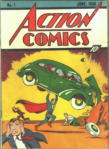 Action Comics #1: origin and first appearance of Superman