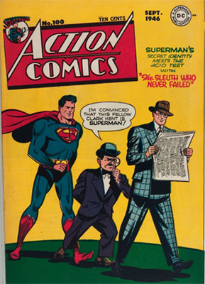 Action Comics #100: Landmark issue. Click for value