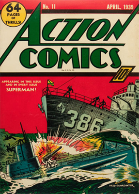 Action Comics #11: early Superman appearance. Click for values