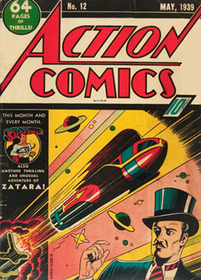Action Comics #12: Ad for Detective #27 in one panel. Click for value