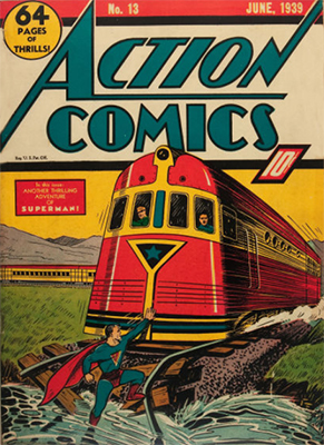 Action Comics #13 (Jun 1939): Fourth Superman Cover Appearance. Click for values