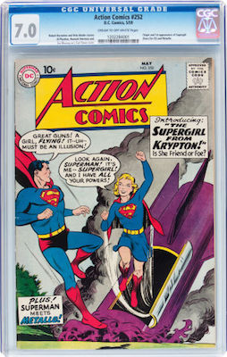 While there is not a ton of choice in Action Comics #252 in the market, wait for the right CGC 7.0 to come along and snap it up. Click to buy a copy