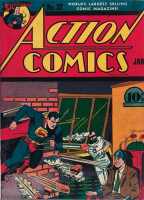 Action #32: First Appearance of Krypto Ray Gun. Click for value