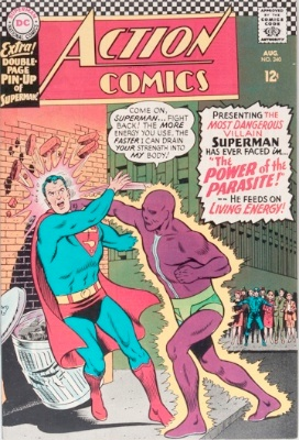Origin and First Appearance, Parasite, Action Comics #340, DC Comics, 1966. Click for value