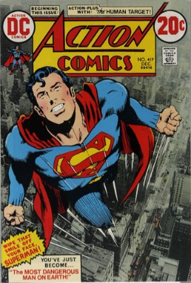 Action Comics #419: 1st Appearance of Human Target; Neal Adams cover. Click for values